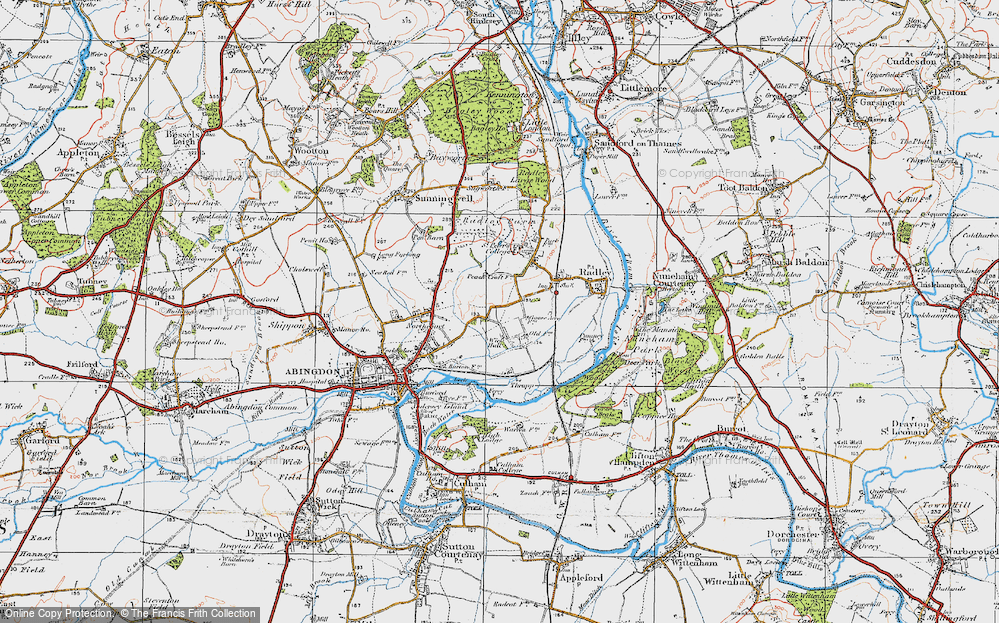 Old Map of Abingdon-on-Thames, 1919 in 1919