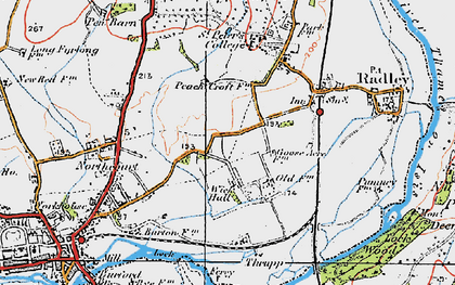 Old map of Wick Hall in 1919