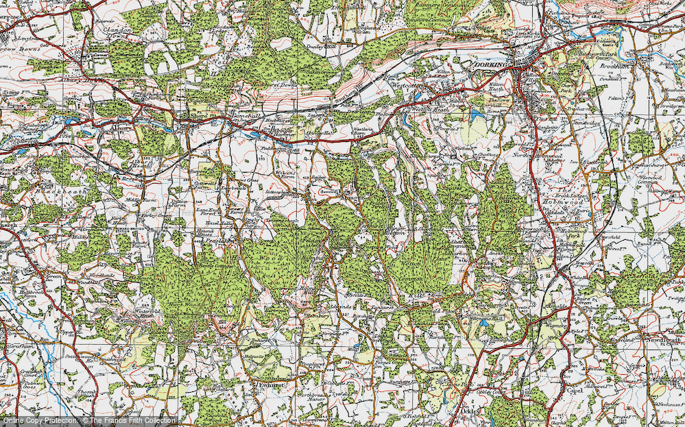 Old Map of Abinger Common, 1920 in 1920