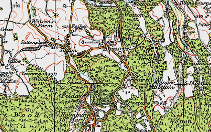 Old map of Abinger Common in 1920