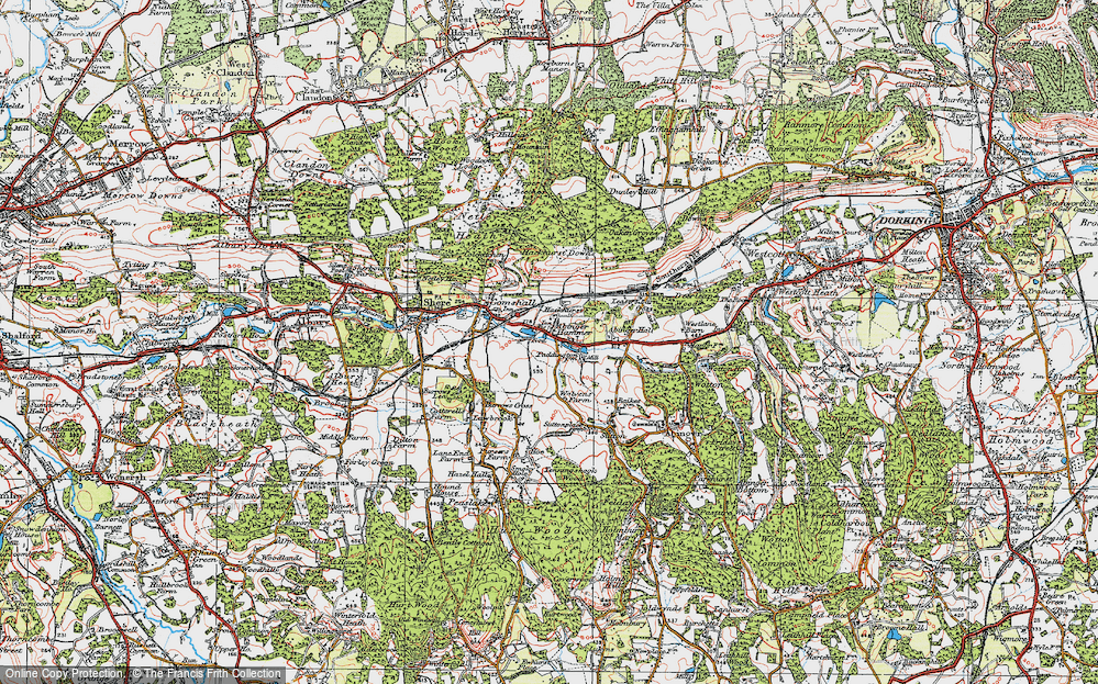 Old Map of Abinger Hammer, 1920 in 1920