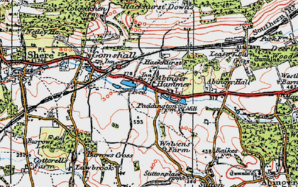 Old map of Abinger Hammer in 1920