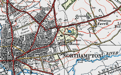 Old map of Abington in 1919