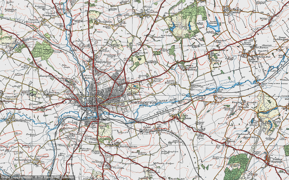 Old Map of Abington Vale, 1919 in 1919