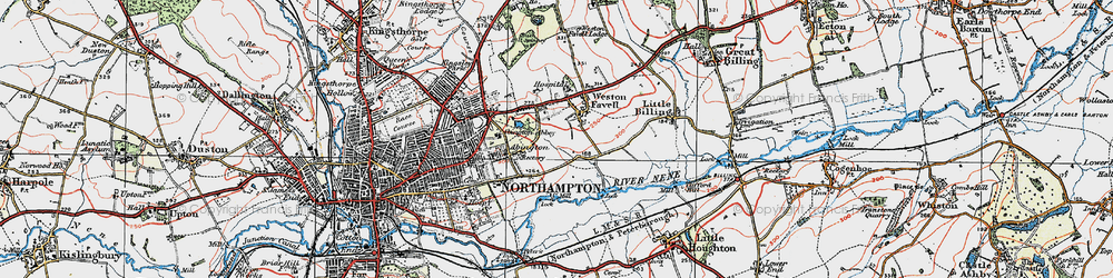 Old map of Abington Vale in 1919