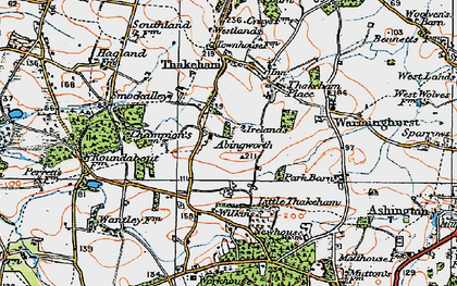 Old map of Abingworth in 1920