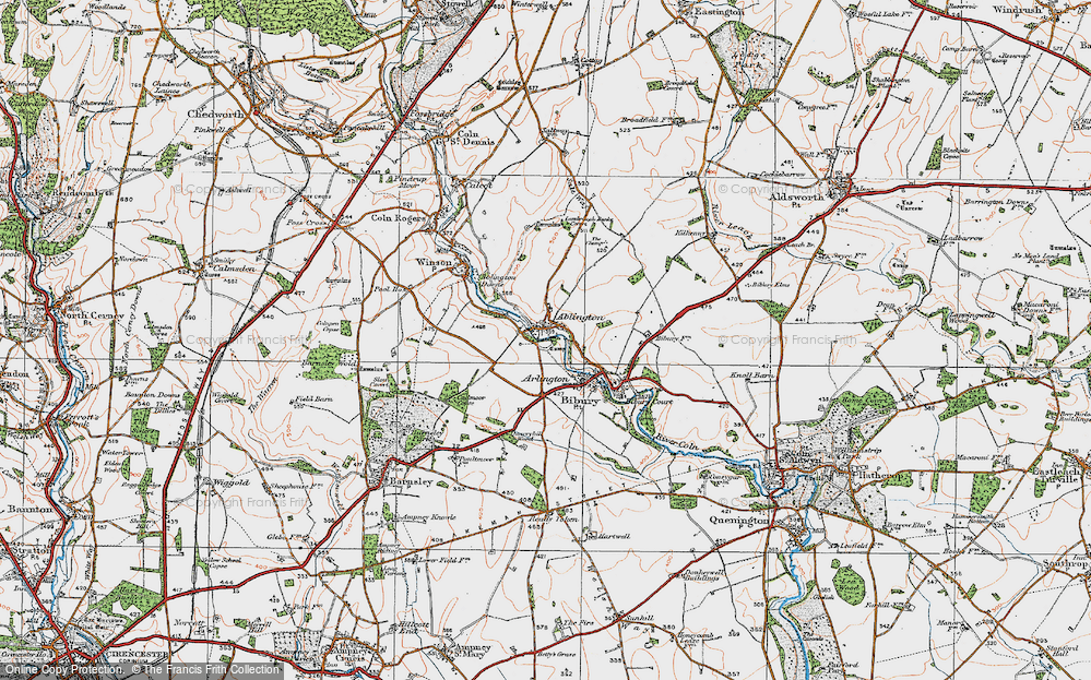 Old Map of Ablington, 1919 in 1919