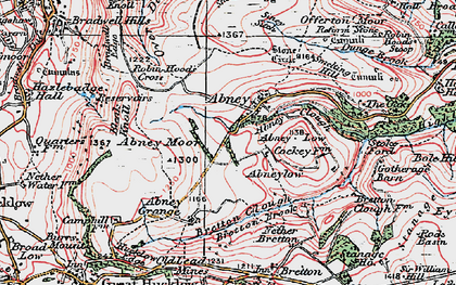 Old map of Abney Low in 1923