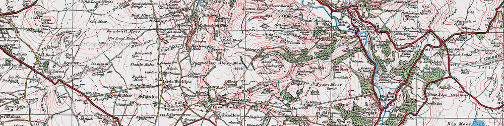 Old map of Abney in 1923