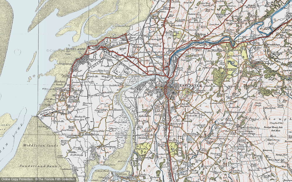Old Map of Abraham Heights, 1924 in 1924