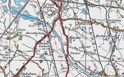 Old map of Abram in 1924