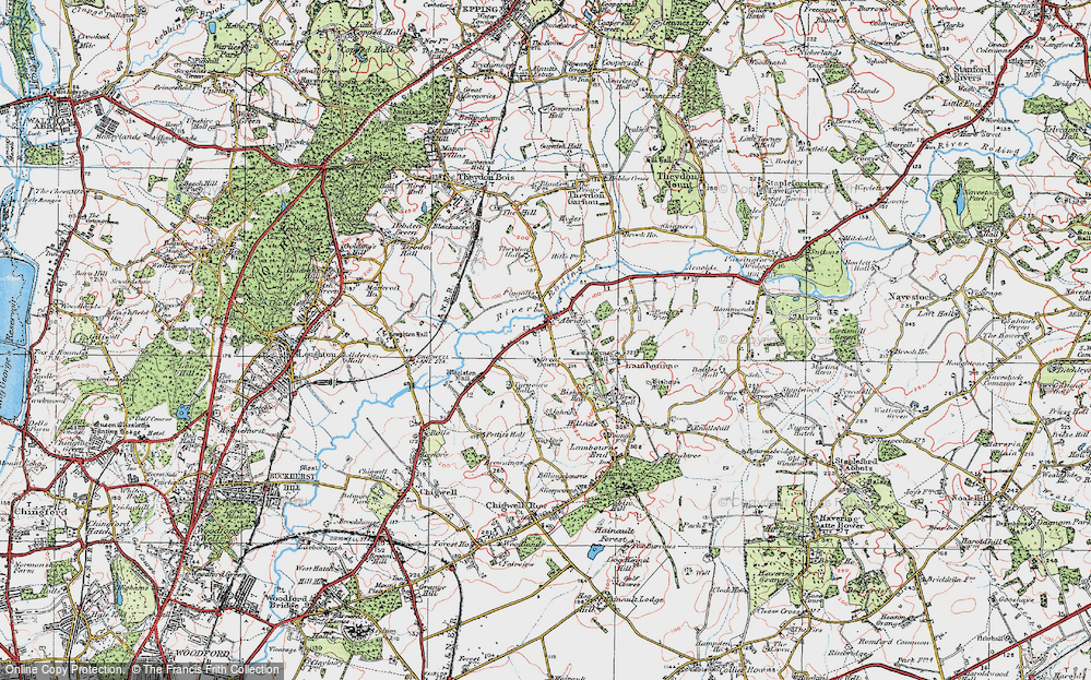 Old Map of Abridge, 1920 in 1920
