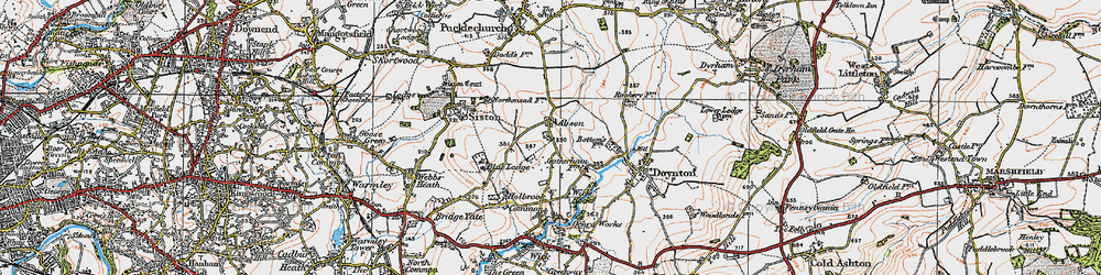 Old map of Abson in 1919