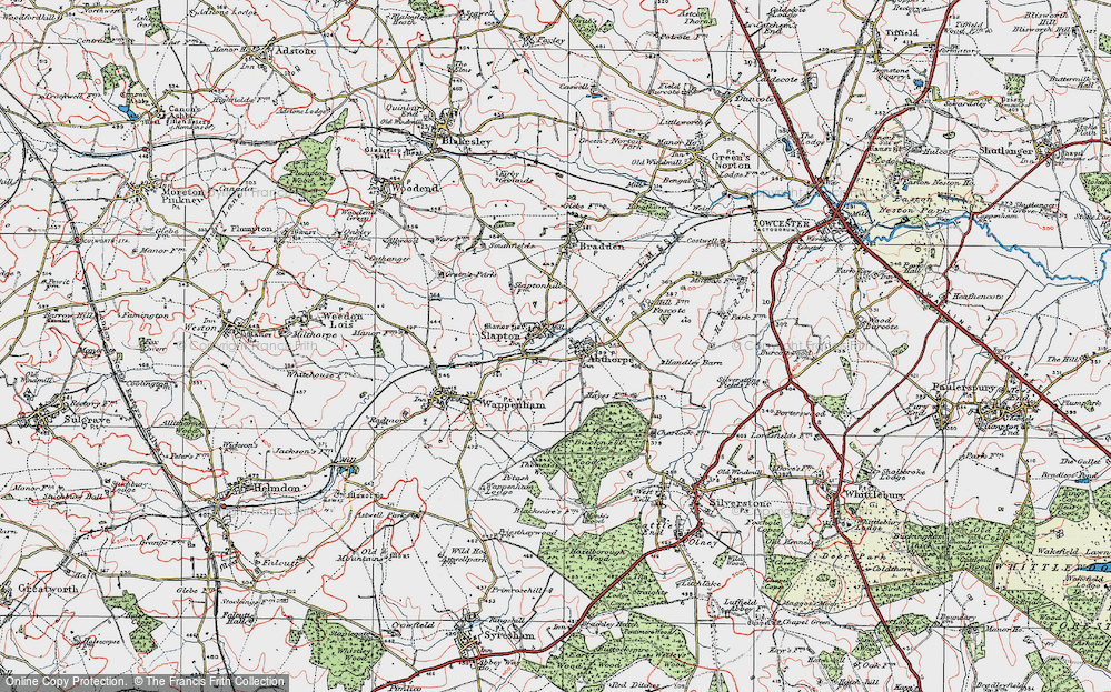 Old Map of Abthorpe, 1919 in 1919