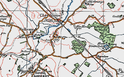 Old map of Aby in 1923