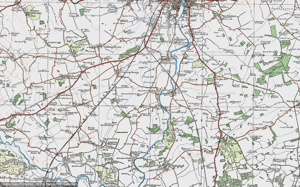 Old Map of Acaster Malbis, 1924 in 1924