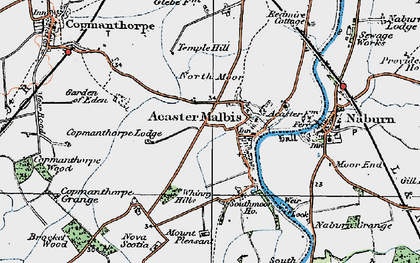 Old map of Acaster Malbis in 1924