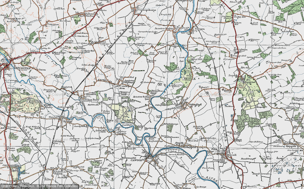 Old Map of Acaster Selby, 1924 in 1924