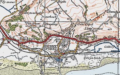Old map of Achddu in 1923