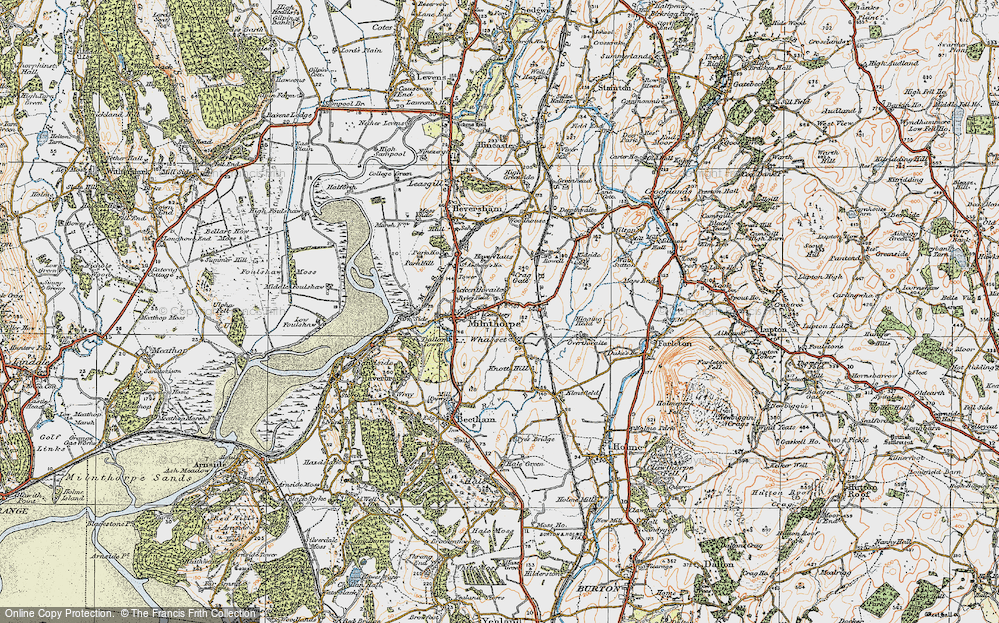 Old Map of Ackenthwaite, 1925 in 1925