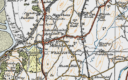 Old map of Ackenthwaite in 1925