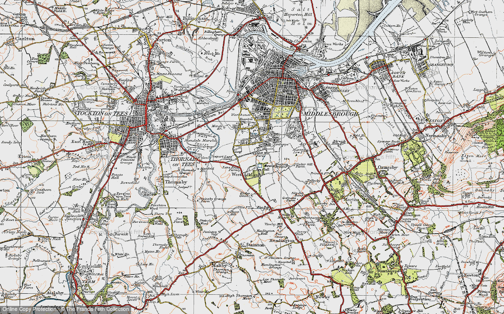 Old Map of Acklam, 1925 in 1925