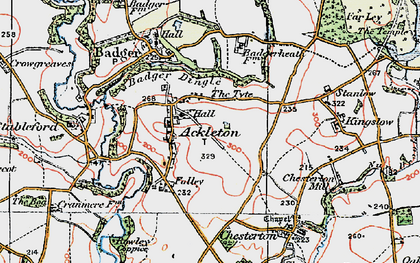 Old map of Ackleton in 1921