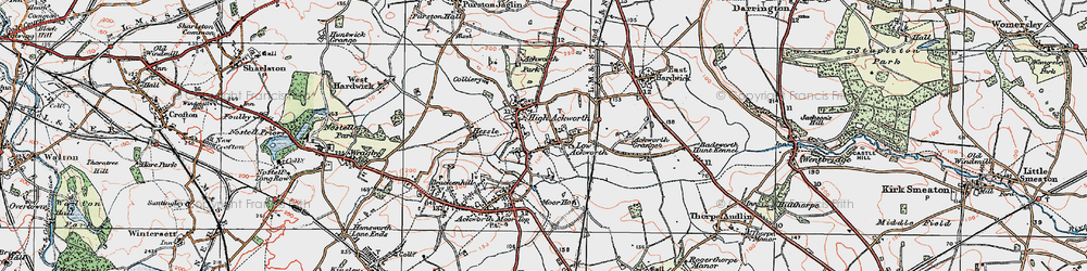 Old map of Ackworth School in 1925