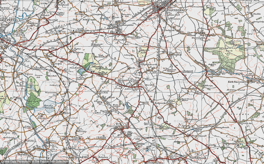 Old Map of Ackworth Moor Top, 1925 in 1925