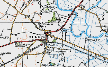 Old map of Acle in 1922
