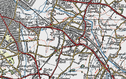 Old map of Acock's Green in 1921