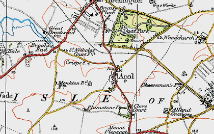 Old map of Alland Grange in 1920