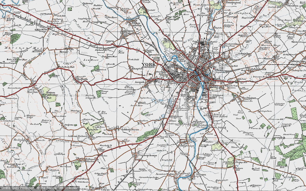 Old Map of Acomb, 1924 in 1924