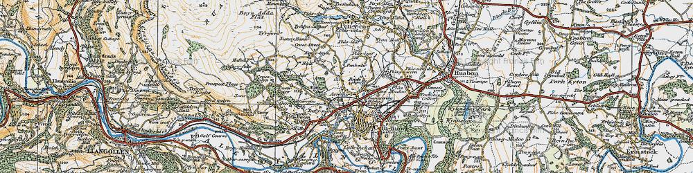 Old map of Acrefair in 1921