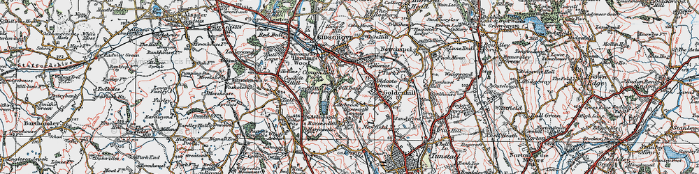 Old map of Acres Nook in 1921
