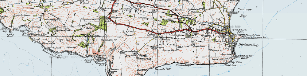 Old map of Acton in 1919