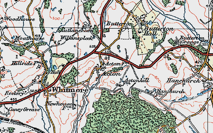 Old map of Acton in 1921