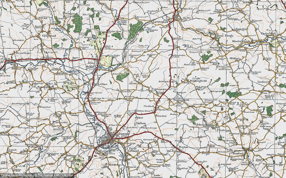 Old Map of Acton, 1921 in 1921