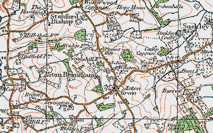 Old map of Acton Green in 1920
