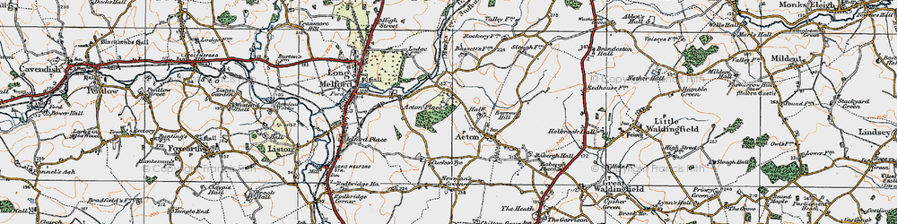 Old map of Acton Place in 1921