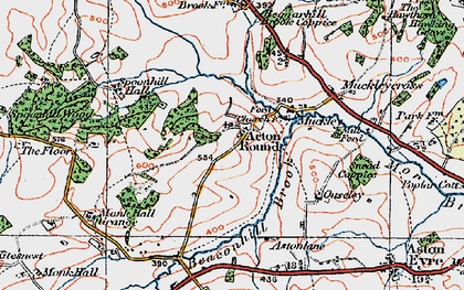 Old map of Acton Round in 1921