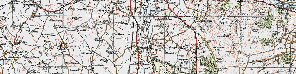 Old map of Acton Br in 1921