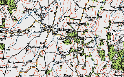 Old map of Adam's Green in 1919