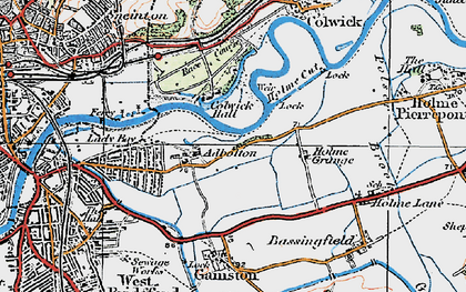 Old map of Adbolton in 1921