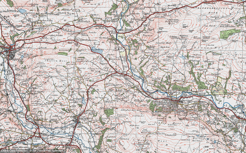 Old Map of Addingham, 1925 in 1925