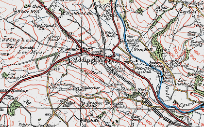 Old map of Addingham in 1925