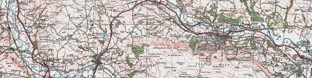 Old map of Whetstone Allotment in 1925