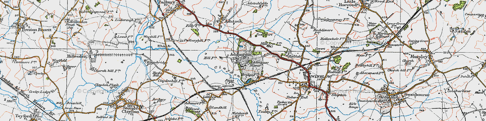 Old map of Addington Manor in 1919