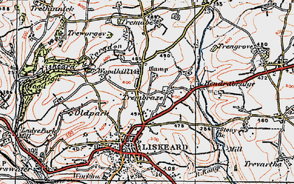 Old map of Addington in 1919