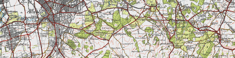Old map of Addington in 1920
